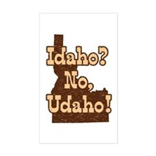 Idaho No Udaho Rectangle Decal