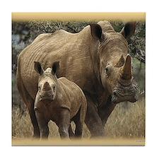 Unique Rhinoceros Tile Coaster