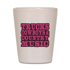 Trucks, Cowboys And Country Music Shot Glass