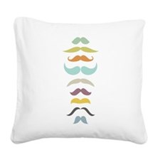 Retro Staches Square Canvas Pillow