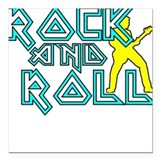"RockNRollDesign2.png Square Car Magnet 3"" x 3"""