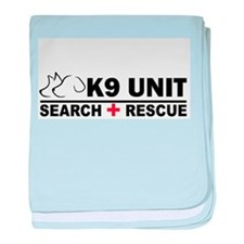 Search and Rescue K9 Unit baby blanket