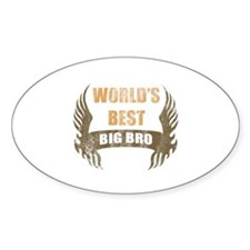 World's Best Big Bro (Wings) Decal