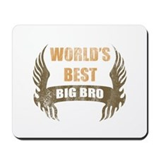 World's Best Big Bro (Wings) Mousepad