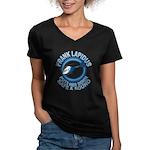 Frank Lapidus Women's V-Neck Dark T-Shirt