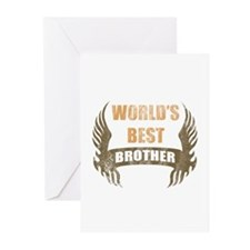 World's Best Brother (Wings) Greeting Cards (Pk of