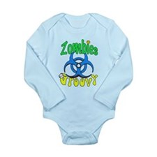 Zombies Groovy 3 Long Sleeve Infant Bodysuit