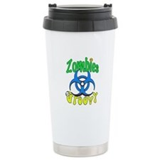 Zombies Groovy 3 Ceramic Travel Mug