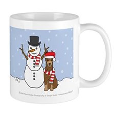 Red Doberman Pinscher Winter Mug