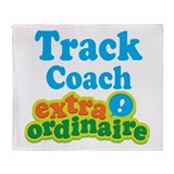 Track Coach Extraordinaire Throw Blanket