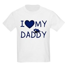 I Love My Police Daddy Kids T-Shirt T-Shirt