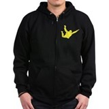 Freefall Silhouette 2 (yellow) Dark Zip Hoody