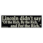 Lincoln didn't say Bumper Sticker