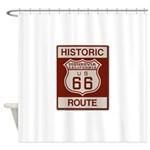 Monrovia Route 66 Shower Curtain
