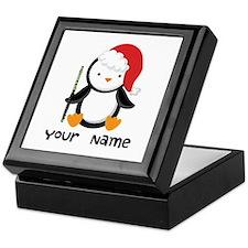 Personalized Flute Penguin Keepsake Box