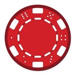 Red Poker Chip Round Car Magnet