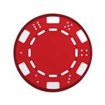 Red Poker Chip 3.5