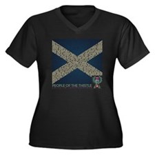 Clan Names Women's Plus Size V-Neck Dark T-Shirt