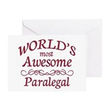 Awesome Paralegal Greeting Card