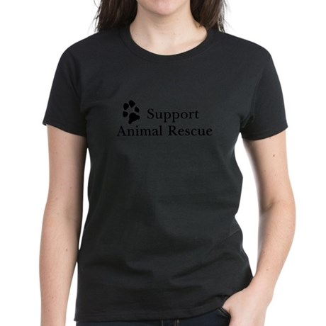 Support Animal Rescue Women's Dark T-Shirt