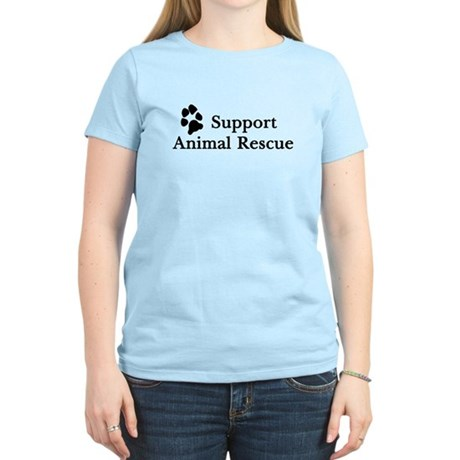 Support Animal Rescue Women's Light T-Shirt