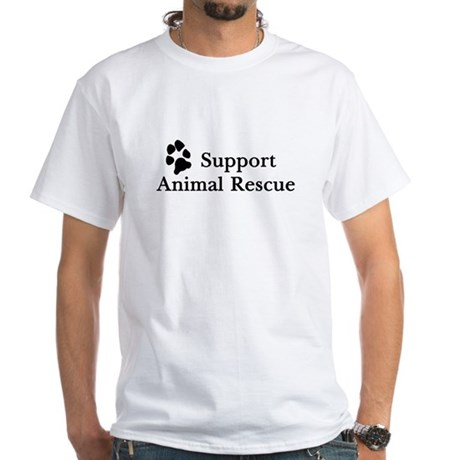 Support Animal Rescue White T-Shirt