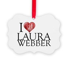 I Heart Laura Webber Picture Ornament