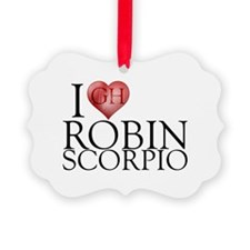 I Heart Robin Scorpio Picture Ornament