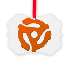 Orange 45 RPM Adapter Ornament