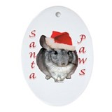 Chin Santa (standard) Oval Ornament
