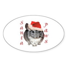 Chin Santa (standard) Oval Decal