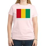 Guinea Flag Picture Women's Pink T-Shirt