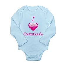 I Love/Heart Cockatiels Long Sleeve Infant Bodysui