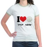 Personalized I Love Volleyball T