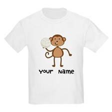 Personalized Volleyball Monkey T-Shirt