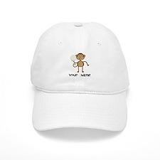 Personalized Volleyball Monkey Baseball Cap
