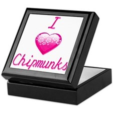 I Love/Heart Chipmunks Keepsake Box