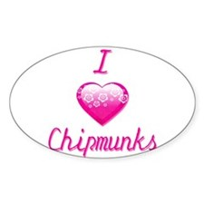 I Love/Heart Chipmunks Decal