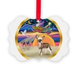 Funny Chinese crested design Ornament