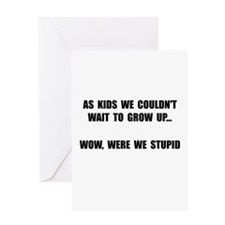 Grow Up Stupid Greeting Card