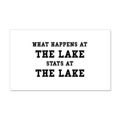 Happens At Lake 20x12 Wall Decal