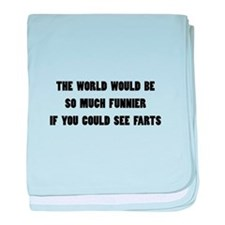 See Farts baby blanket