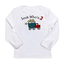 Look Who's 3 Long Sleeve Infant T-Shirt