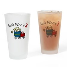 Look Who's 3 Drinking Glass