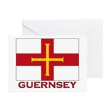 Guernsey Flag Merchandise Greeting Cards (Package