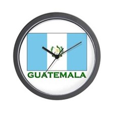 Flag of Guatemala Wall Clock