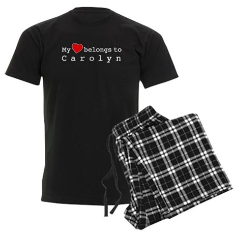 My Heart Belongs To Carolyn Men's Dark Pajamas