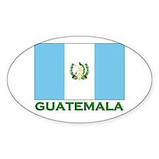 Guatemala Flag Stuff Oval Decal