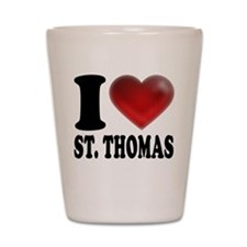 I Heart St. Thomas Shot Glass