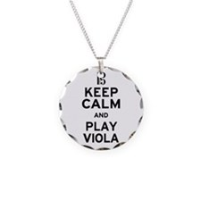 Keep Calm Viola Necklace Circle Charm